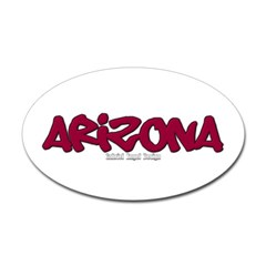 Arizona Graffiti Oval Decal
