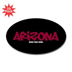 Arizona Graffiti Oval Decals 50 Pack