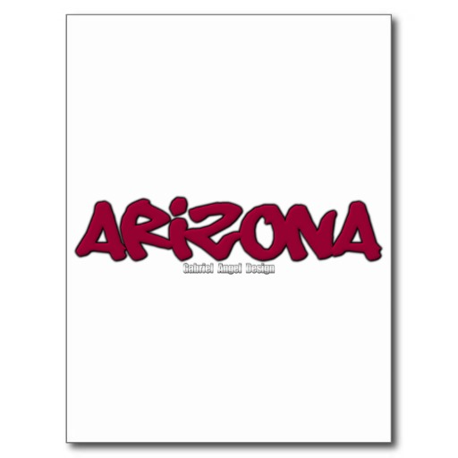 Arizona Graffiti Postcard
