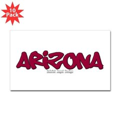 Arizona Graffiti Rectangle Decal 10 Pack