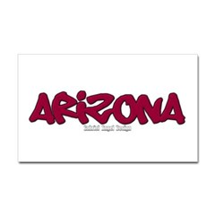 Arizona Graffiti Rectangle Decal