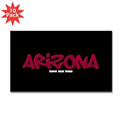 Arizona Graffiti Rectangle Decals 10 Pack