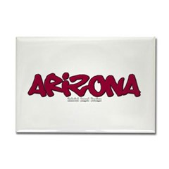 Arizona Graffiti Rectangle Magnet