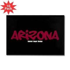 Arizona Graffiti Rectangle Magnet (10 pack)