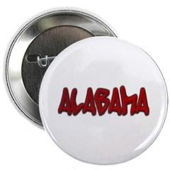 """Alabama Graffiti 2.25"""" Button"""