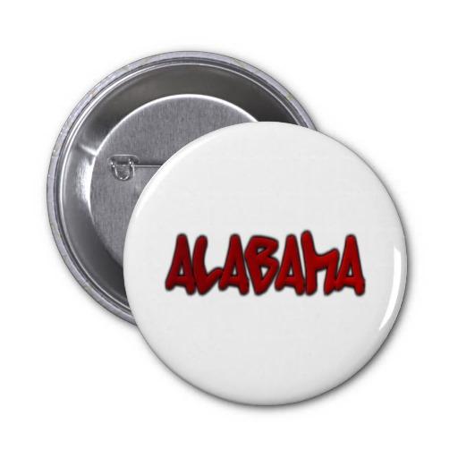 Alabama Graffiti 2 Inch Round Button