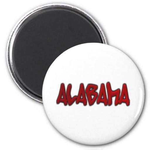 Alabama Graffiti 2 Inch Round Magnet