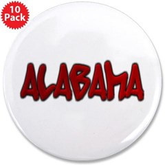 "Alabama Graffiti 3.5"" Button (10 pack)"