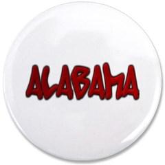 """Alabama Graffiti 3.5"""" Button"""