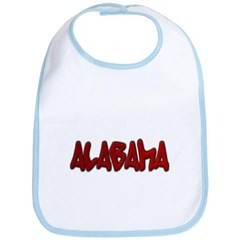 Alabama Graffiti Baby Bib
