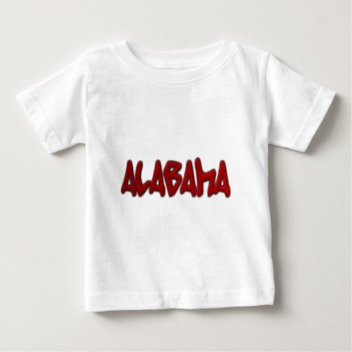 Alabama Graffiti Baby Fine Jersey T-Shirt