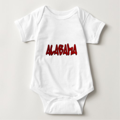 Alabama Graffiti Baby Jersey Bodysuit