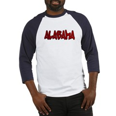 Alabama Graffiti Baseball Jersey T-Shirt