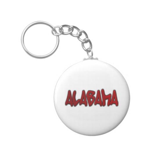 Alabama Graffiti Basic Button Keychain