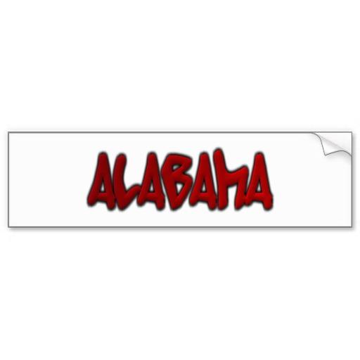 Alabama Graffiti Bumper Sticker