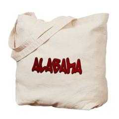 Alabama Graffiti Canvas Tote Bag