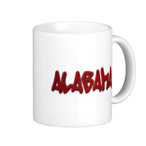 Alabama Graffiti Classic White Mug