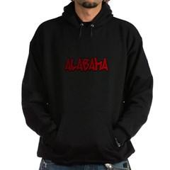 Alabama Graffiti Dark Hooded Sweatshirt