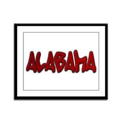 Alabama Graffiti Framed Panel Print