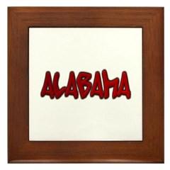 Alabama Graffiti Framed Tile