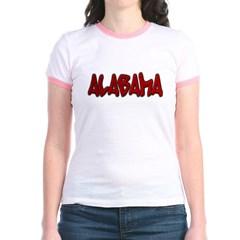 Alabama Graffiti Junior Ringer T-Shirt