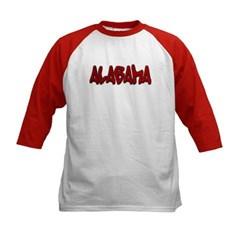 Alabama Graffiti Kids Baseball Jersey T-Shirt
