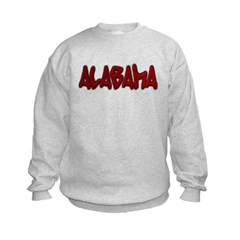 Alabama Graffiti Kids Crewneck Sweatshirt by Hanes