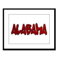 Alabama Graffiti Large Framed Print