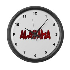 Alabama Graffiti Large Wall Clock