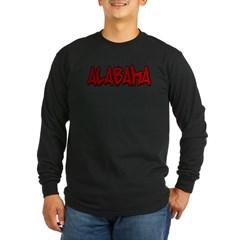 Alabama Graffiti Long Sleeve Dark T-Shirt