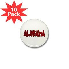 Alabama Graffiti Mini Button (10 pack)