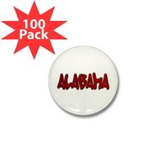 Alabama Graffiti Mini Button (100 pack)
