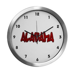 Alabama Graffiti Modern Wall Clock