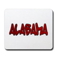 Alabama Graffiti Mousepad