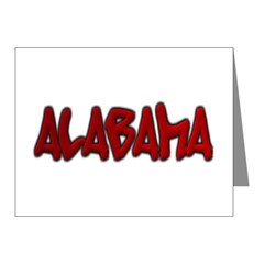 Alabama Graffiti Note Cards (Pk of 10)