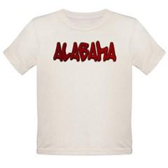 Alabama Graffiti Organic Toddler T-Shirt