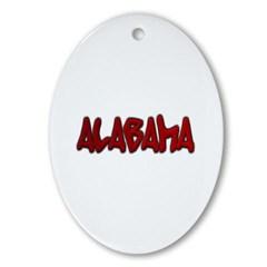 Alabama Graffiti Ornament (Oval)