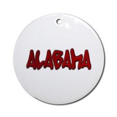 Alabama Graffiti Ornament (Round)