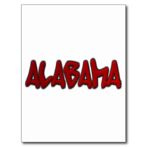 Alabama Graffiti Postcard