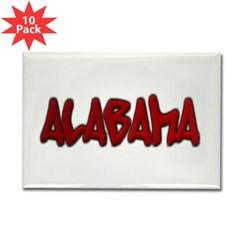 Alabama Graffiti Rectangle Magnet (10 pack)