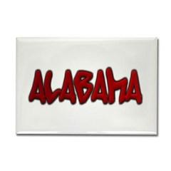 Alabama Graffiti Rectangle Magnet