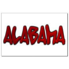 Alabama Graffiti Small Posters
