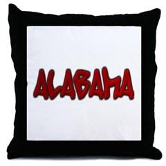 Alabama Graffiti Throw Pillow