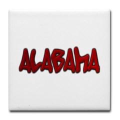 Alabama Graffiti Tile Coaster