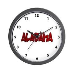 Alabama Graffiti Wall Clock