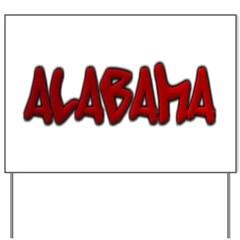 Alabama Graffiti Yard Sign