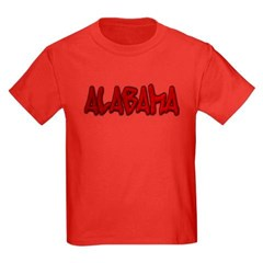 Alabama Graffiti Youth Dark T-Shirt by Hanes