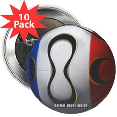 "France Soccer 2.25"" Button (10 pack)"