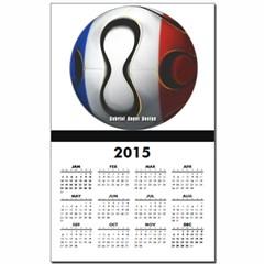 France Soccer Calendar Print
