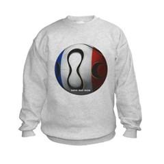 France Soccer Kids Crewneck Sweatshirt by Hanes